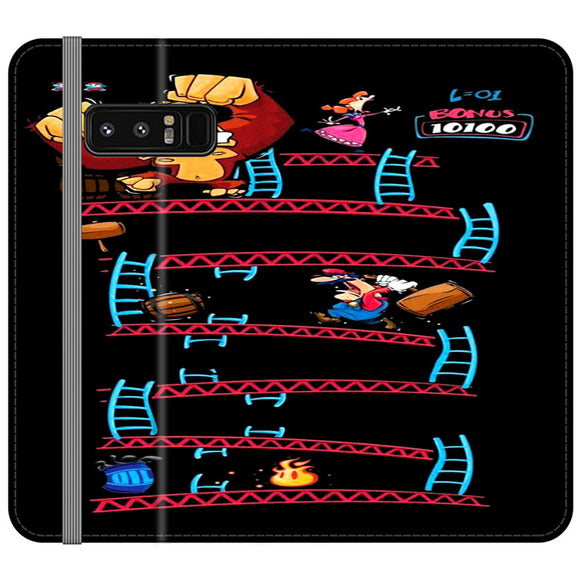 Triple King Kong Animation Game Samsung Galaxy Note 8 Flip Case | Frostedcase