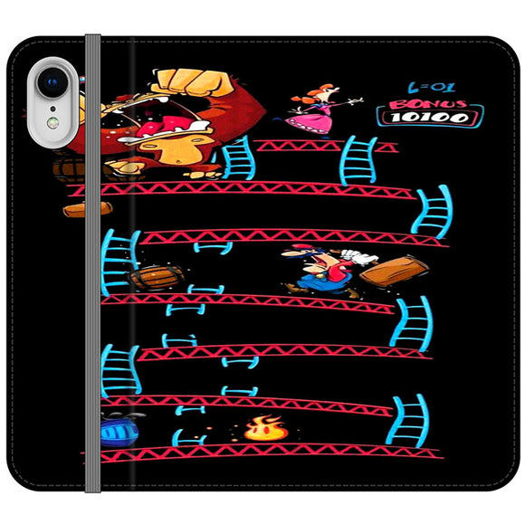Triple King Kong Animation Game iPhone XR Flip Case | Frostedcase