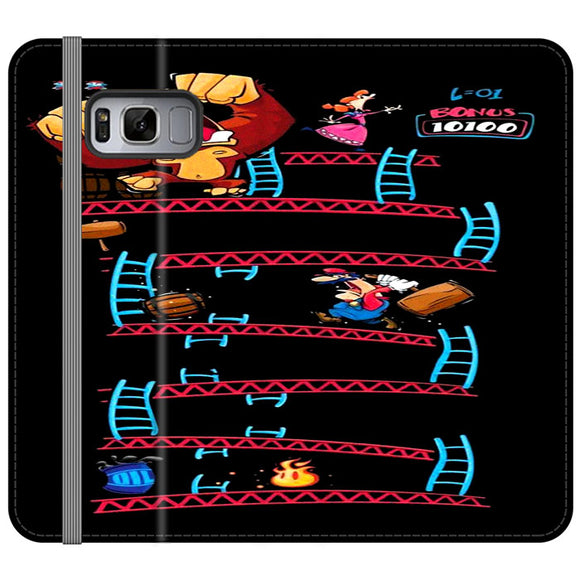 Triple King Kong Animation Game Samsung Galaxy S8 Plus Flip Case | Frostedcase