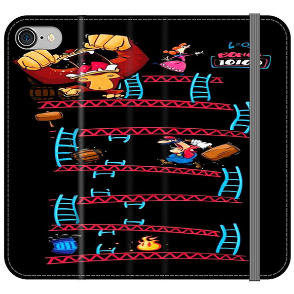 Triple King Kong Animation Game iPhone 8 Flip Case | Frostedcase
