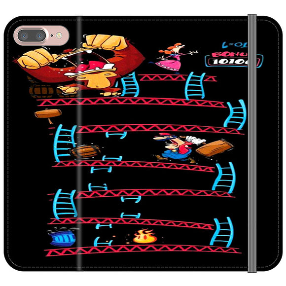 Triple King Kong Animation Game iPhone 8 Plus Flip Case | Frostedcase