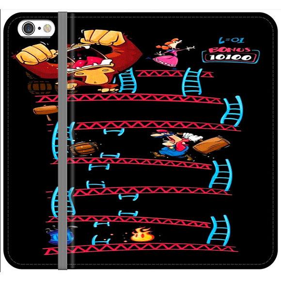 Triple King Kong Animation Game iPhone 6|6S Flip Case | Frostedcase