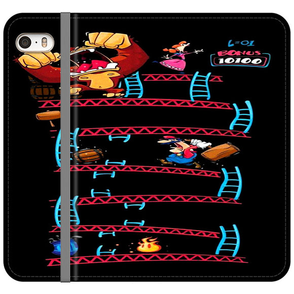 Triple King Kong Animation Game iPhone 5|5S|SE Flip Case | Frostedcase