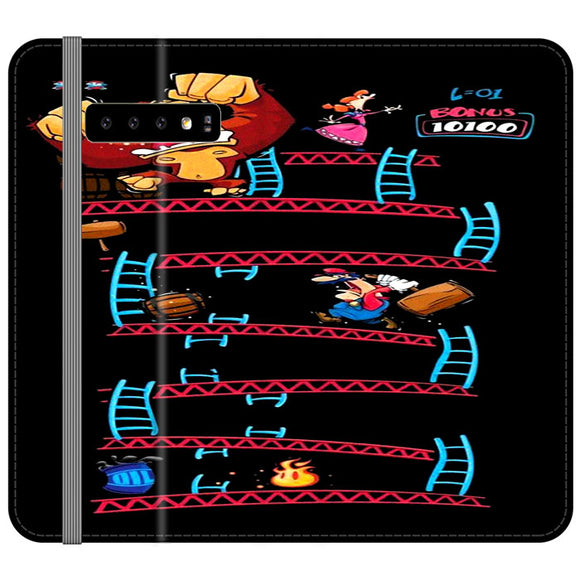 Triple King Kong Animation Game Samsung Galaxy S10 Plus Flip Case | Frostedcase
