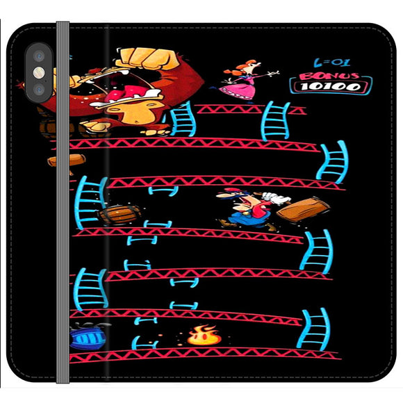 Triple King Kong Animation Game iPhone X Flip Case | Frostedcase