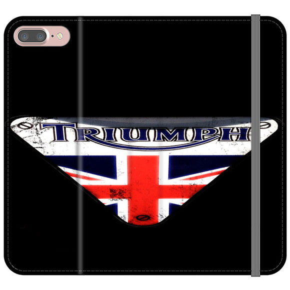 Triumph Motorcycles England iPhone 8 Plus Flip Case | Frostedcase