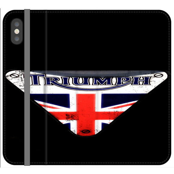Triumph Motorcycles England iPhone X Flip Case | Frostedcase