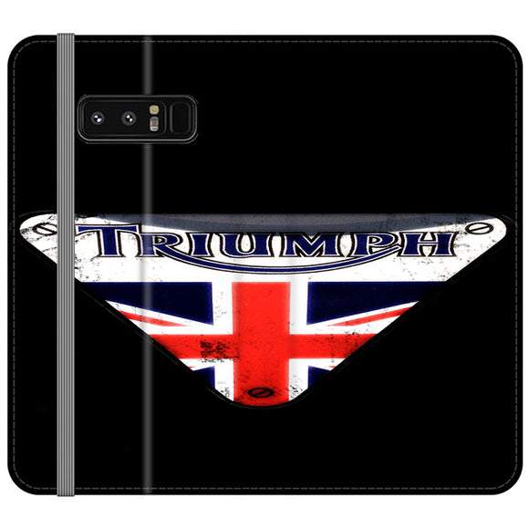 Triumph Motorcycles England Samsung Galaxy Note 8 Flip Case | Frostedcase