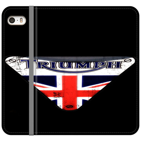 Triumph Motorcycles England iPhone 5|5S|SE Flip Case | Frostedcase