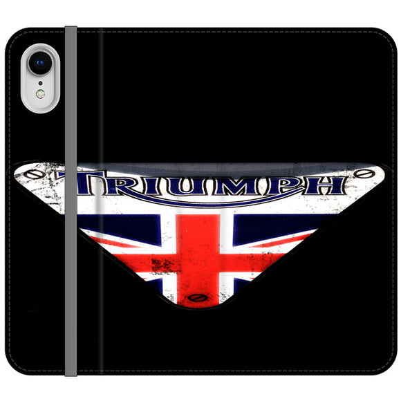 Triumph Motorcycles England iPhone XR Flip Case | Frostedcase