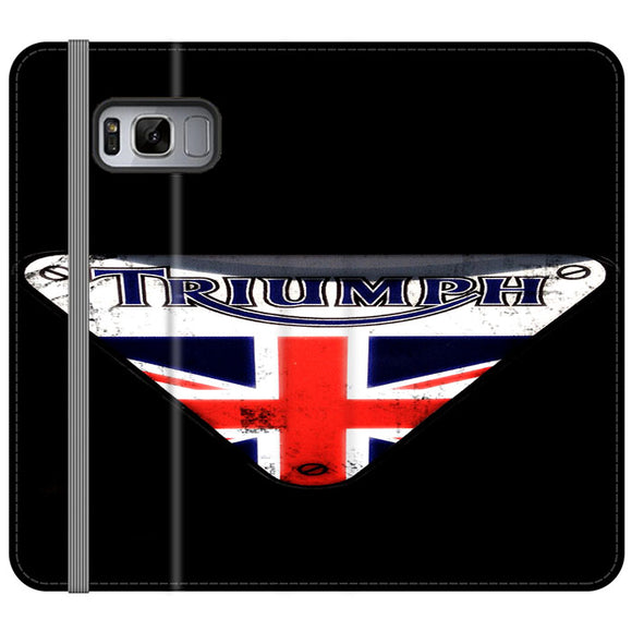 Triumph Motorcycles England Samsung Galaxy S8 Plus Flip Case | Frostedcase