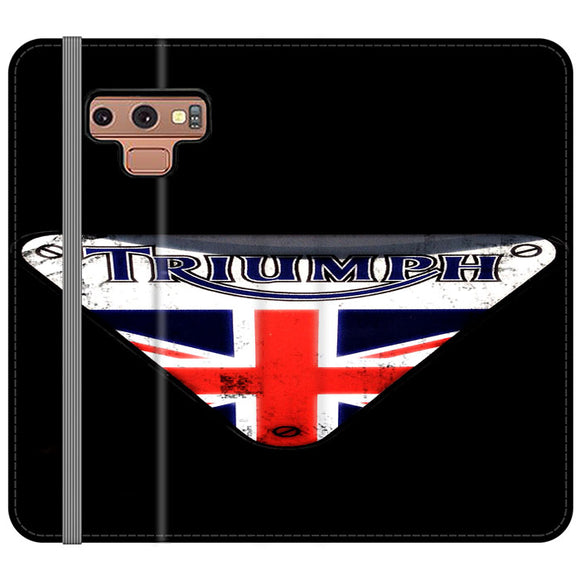 Triumph Motorcycles England Samsung Galaxy Note 9 Flip Case | Frostedcase