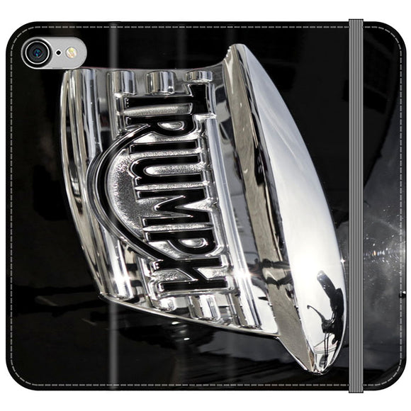 Triumph Motorcycles Logan Emblem iPhone 8 Flip Case | Frostedcase