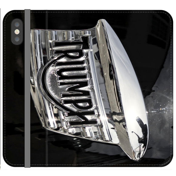 Triumph Motorcycles Logan Emblem iPhone XS Max Flip Case | Frostedcase