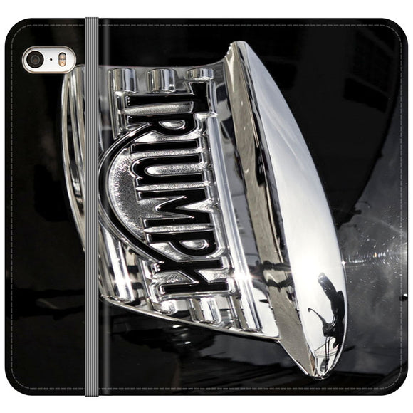 Triumph Motorcycles Logan Emblem iPhone 5|5S|SE Flip Case | Frostedcase