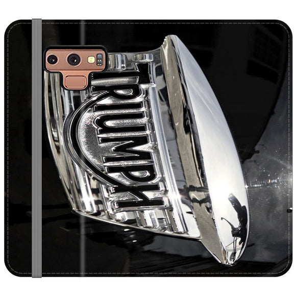 Triumph Motorcycles Logan Emblem Samsung Galaxy Note 9 Flip Case | Frostedcase