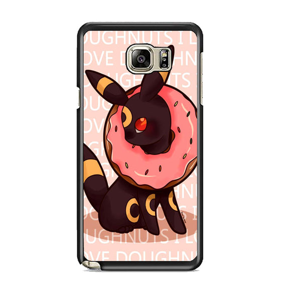 Umbreon Pokemon Donuts Doodle Samsung Galaxy Note 5 Case | Frostedcase