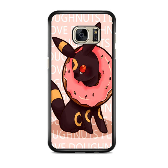 Umbreon Pokemon Donuts Doodle Samsung Galaxy S7 EDGE Case | Frostedcase