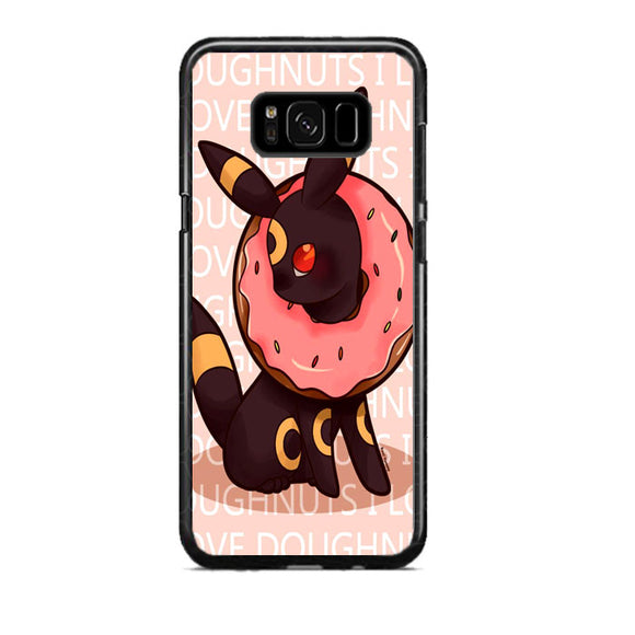 Umbreon Pokemon Donuts Doodle Samsung Galaxy S8 Plus Case | Frostedcase