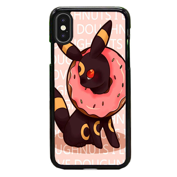 Umbreon Pokemon Donuts Doodle iPhone X Case | Frostedcase