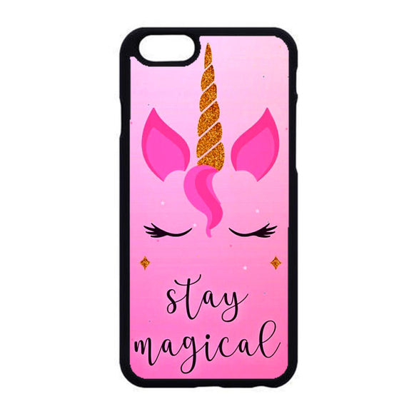 Unicorn Clip Art Stay Magical iPhone 6|6S Case | Frostedcase