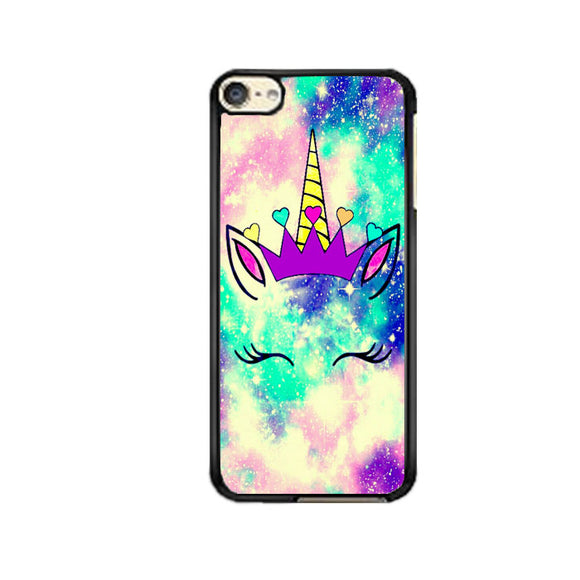 Unicorn Flower Clip Art Galaxy Purple iPod 6 Case | Frostedcase