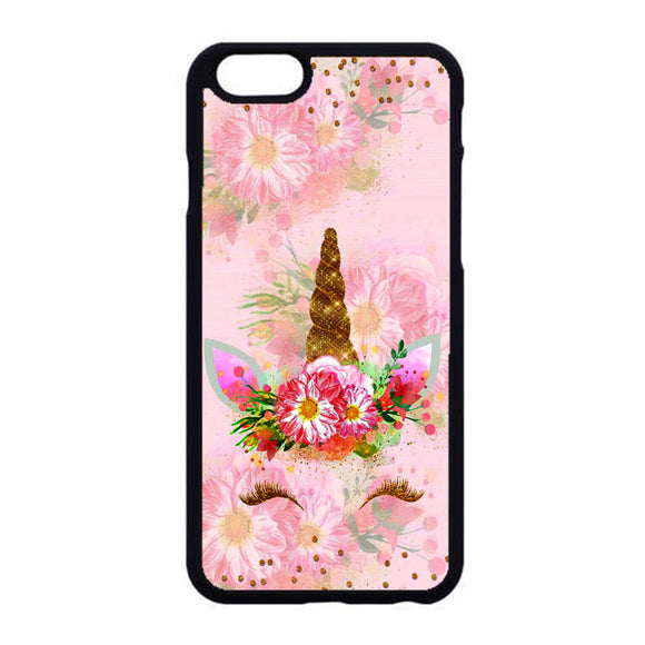 Unicorn Flower Clip Art Pink iPhone 6|6S Case | Frostedcase