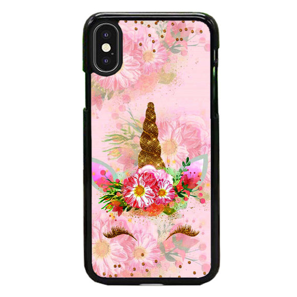 Unicorn Flower Clip Art Pink iPhone X Case | Frostedcase