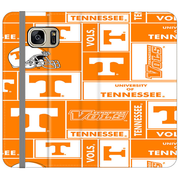 University Of Tennessee Helmet Samsung Galaxy S7 EDGE Flip Case | Frostedcase