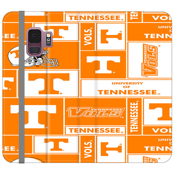 University Of Tennessee Helmet Samsung Galaxy S9 Flip Case | Frostedcase