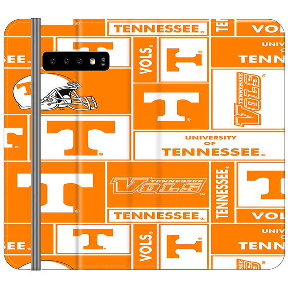 University Of Tennessee Helmet Samsung Galaxy S10 Plus Flip Case | Frostedcase
