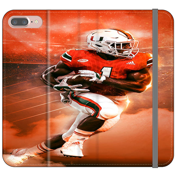 University Of Miami Football iPhone 8 Plus Flip Case | Frostedcase