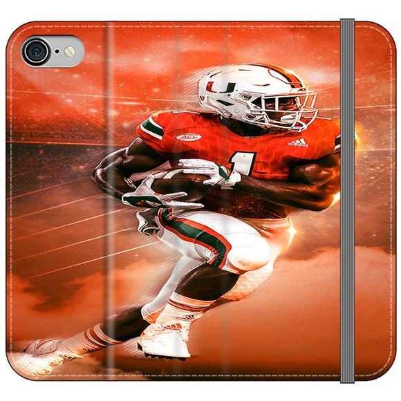 University Of Miami Football iPhone 7 Flip Case | Frostedcase
