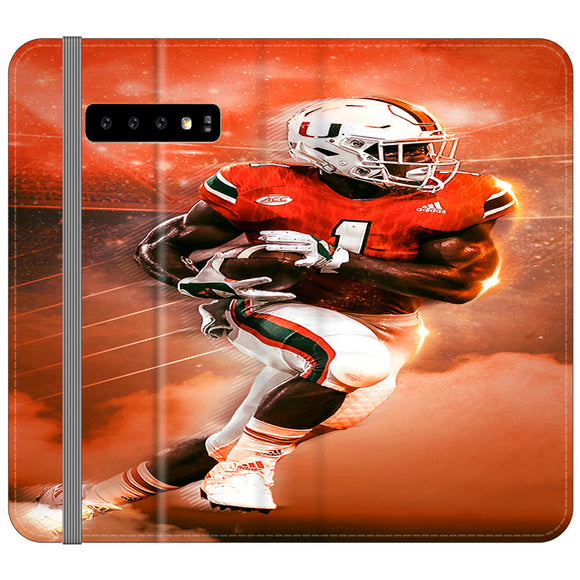 University Of Miami Football Samsung Galaxy S10 Plus Flip Case | Frostedcase