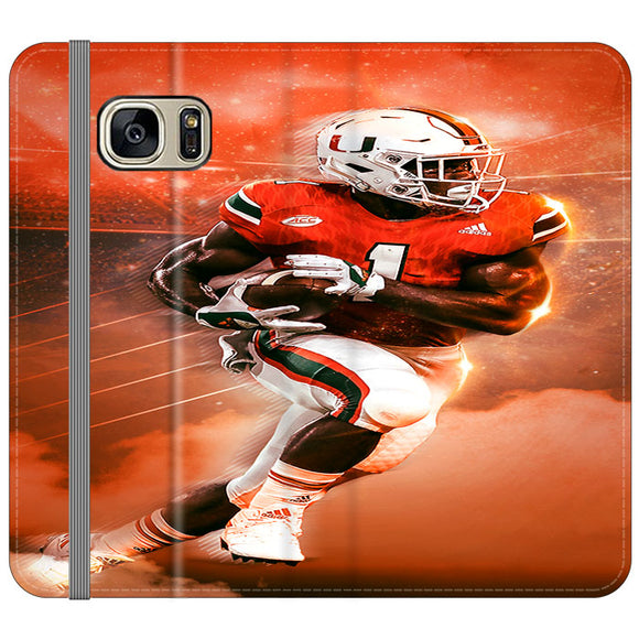 University Of Miami Football Samsung Galaxy S7 EDGE Flip Case | Frostedcase