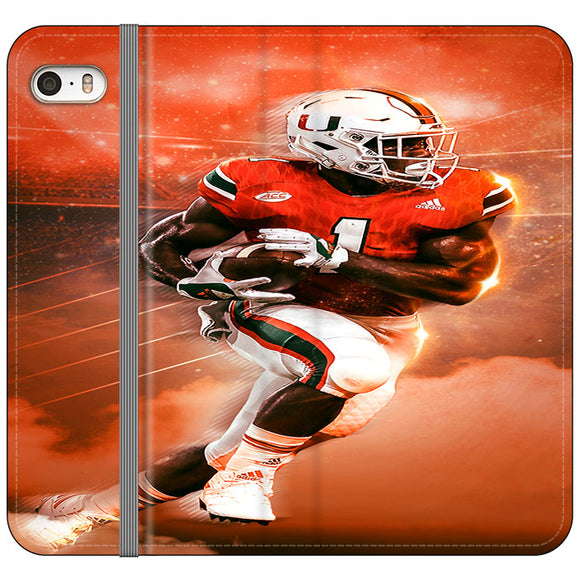 University Of Miami Football iPhone 5|5S|SE Flip Case | Frostedcase