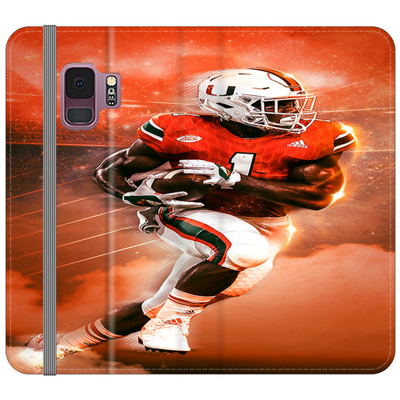 University Of Miami Football Samsung Galaxy S9 Flip Case | Frostedcase