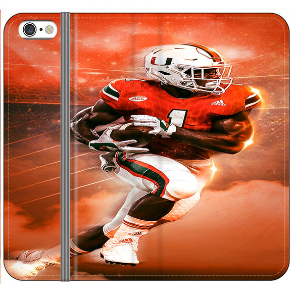 University Of Miami Football iPhone 6 Plus|6S Plus Flip Case | Frostedcase