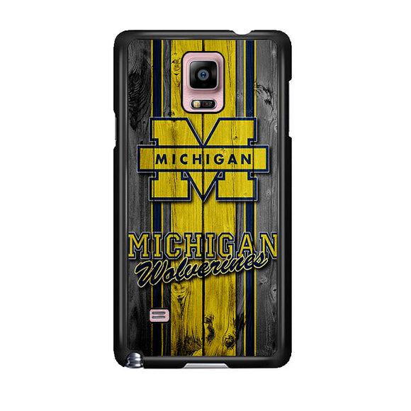University Of Michigan Wolverines Football Team Wooden Samsung Galaxy Note 4 Case | Frostedcase