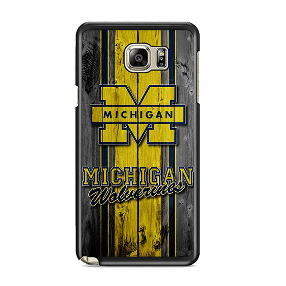 University Of Michigan Wolverines Football Team Wooden Samsung Galaxy Note 5 Case | Frostedcase
