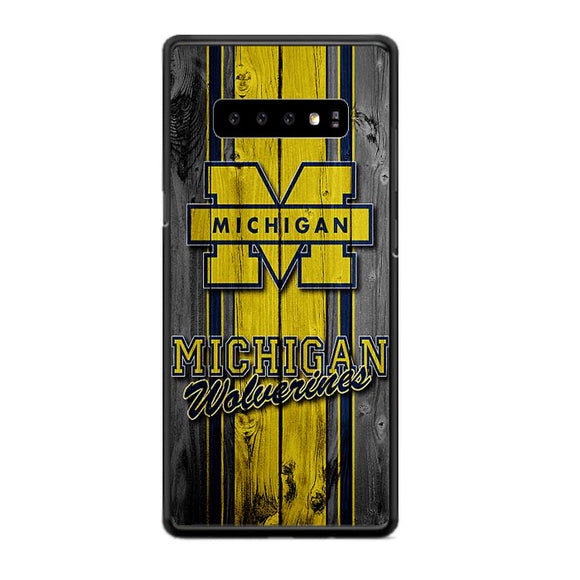 University Of Michigan Wolverines Football Team Wooden Samsung Galaxy S10 Case | Frostedcase
