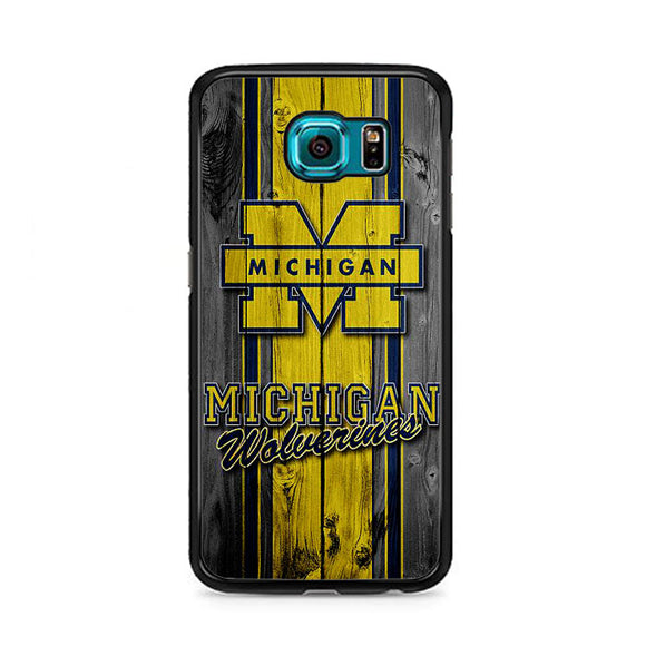 University Of Michigan Wolverines Football Team Wooden Samsung Galaxy S6 Case | Frostedcase