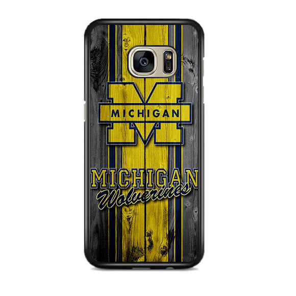 University Of Michigan Wolverines Football Team Wooden Samsung Galaxy S7 EDGE Case | Frostedcase