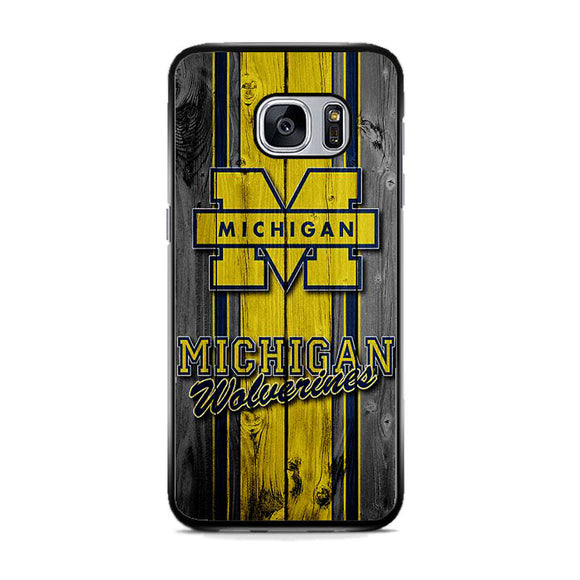 University Of Michigan Wolverines Football Team Wooden Samsung Galaxy S7 Case | Frostedcase