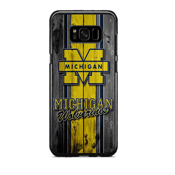 University Of Michigan Wolverines Football Team Wooden Samsung Galaxy S8 Plus Case | Frostedcase
