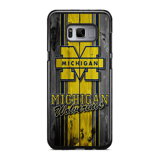 University Of Michigan Wolverines Football Team Wooden Samsung Galaxy S8 Case | Frostedcase