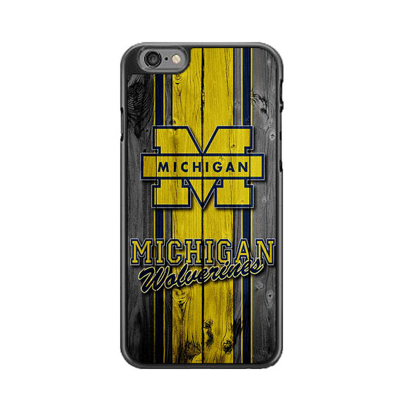 University Of Michigan Wolverines Football Team Wooden iPhone 6 Plus|6S Plus Case | Frostedcase