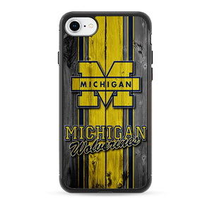University Of Michigan Wolverines Football Team Wooden iPhone 8 Case | Frostedcase