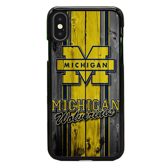 University Of Michigan Wolverines Football Team Wooden iPhone X Case | Frostedcase