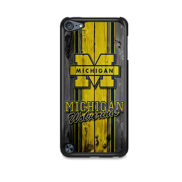 University Of Michigan Wolverines Football Team Wooden iPod 5 Case | Frostedcase